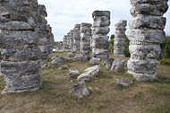 Top of Atlantes Temple Columns at Ake - ake mayan ruins,ake mayan temple,mayan temple pictures,mayan ruins photos