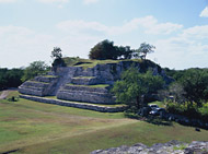 Chultun Temple at Ake Left View - ake mayan ruins,ake mayan temple,mayan temple pictures,mayan ruins photos