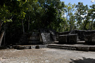 Central Group at Balamku - balamku mayan ruins,balamku mayan temple,mayan temple pictures,mayan ruins photos