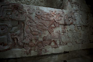 Central Group Frieze at Balamku - balamku mayan ruins,balamku mayan temple,mayan temple pictures,mayan ruins photos