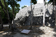 Central Group Temple I at Balamku - balamku mayan ruins,balamku mayan temple,mayan temple pictures,mayan ruins photos