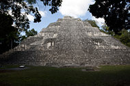 Temple IX in Becan's Central Plaza - becan mayan ruins,becan mayan temple,mayan temple pictures,mayan ruins photos