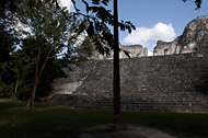 Temple VIII in Becan's Central Plaza - becan mayan ruins,becan mayan temple,mayan temple pictures,mayan ruins photos