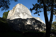 Temple I in Becan's East Plaza - becan mayan ruins,becan mayan temple,mayan temple pictures,mayan ruins photos