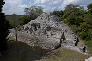 Temple II in Becan's East Plaza - becan mayan ruins,becan mayan temple,mayan temple pictures,mayan ruins photos