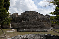 Temple III in Becan's East Plaza - becan mayan ruins,becan mayan temple,mayan temple pictures,mayan ruins photos