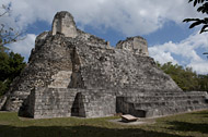 Temple IV in Becan's East Plaza - becan mayan ruins,becan mayan temple,mayan temple pictures,mayan ruins photos