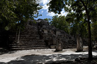 Temple IV in Calakmul's Central Plaza - calakmul mayan ruins,calakmul mayan temple,mayan temple pictures,mayan ruins photos