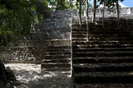 Temple XIV in Calakmul's Grand Acropolis - calakmul mayan ruins,calakmul mayan temple,mayan temple pictures,mayan ruins photos
