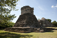 Photo tour of the Mayan Ruins at Dzibilnocac - yucatan mayan ruins,yucatan mayan temple,mayan temple pictures,mayan ruins photos