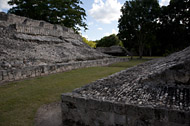 Ball Court at Edzna - edzna mayan ruins,edzna mayan temple,mayan temple pictures,mayan ruins photos