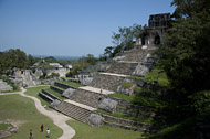 Temple of the Cross at Palenque Ruins - palenque mayan ruins,palenque mayan temple,mayan temple pictures,mayan ruins photos